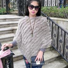 Accept custom order rabbit fur knitted shawl