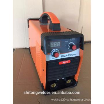 Máquina de soldadura inversora igbt mma-250 barata