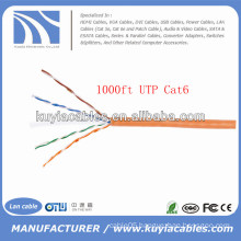 Orange 1000FT/305m 4pairs UTP Cat6 Cable