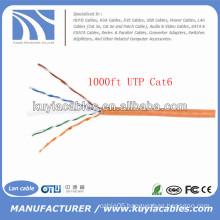 Orange 1000FT/305m 4pairs UTP Cat6 Cable