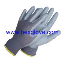 13 Gauge Polyester Liner, PU beschichteter Handschuh