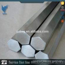 GB / T 14975 316L barre hexagonale en acier inoxydable décapée et recuite