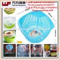 2017 new product plastic vegetable fruit rice washing drop basket mould kitchenware