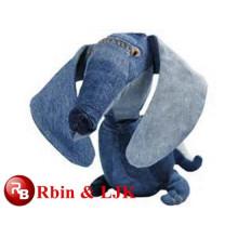 ¡Diseño modificado para requisitos particulares del OEM! Perro azul de la felpa, animal del juguete de la felpa del perro, juguetes hechos mejor