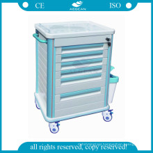 AG-MT005B1 Hospital central locking drawer key drug medical trolley