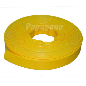 4 Inch Yellow Smooth Surface PVC Layflat Pipe