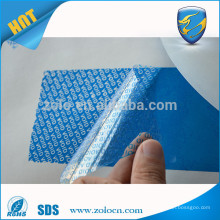 Partial transfer blue security void label tamper evident material