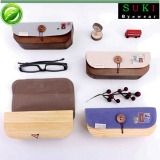 Wholesale sunglasses cases bamboo boxes wooden glasses boxes