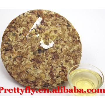 Top Grade Yunnan Fermented 200g Pu'er Flower Tea on sale, Natural Compressed Puerh Tea Export
