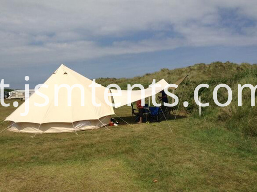 Awning for bell tent
