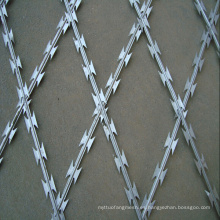 Valla de malla de alambre de púas galvanizada