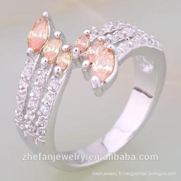 Prix de gros Dernière mode blanc Plaqué or musulmane bagues de mariage Rhodium plaqué bijoux est votre bon choix