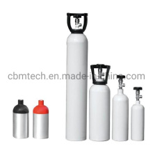 Small White/Green/Yellow/Pink/Blue Cbmtech Aluminum Gas Cylinders