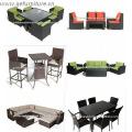 PE Rattan Leisure Wicker Furniture Sofa Set