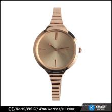 Reloj de la promoción de las señoras para los estilos de la manera de las señoras, reloj trasero del acero inoxidable