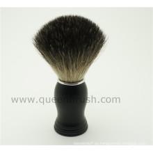 Venta caliente silicona mango tejón de pelo cepillo de afeitar
