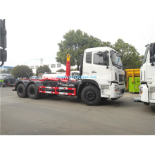 Dongfeng 6x4 hooklift garbage truck