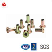 Remache tubular de cobre amarillo de calidad superior de encargo