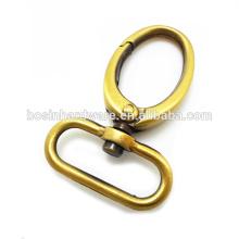 Fashion High Quality Metal Swivel Bronze Bag Snap Hook
