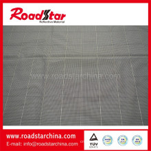 Plain reflective thread with 100% polyester fabric