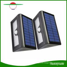Nuevo 50 LED luces solares impermeable LED jardín exterior patio luz de calle PIR sensor de movimiento panel solar lámpara de pared con batería reemplazable