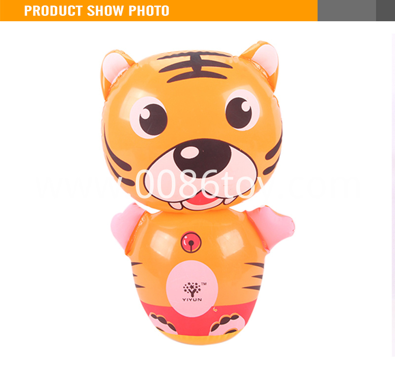Cartoon Animal Assorted Styles Inflatable Tiger