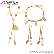 63068 fashion china wholesale künstlerischer hübscher weißer Diamantkristallglasschmucksachesatz 18k