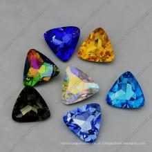 Pedras de cristal soltas do triângulo Pedras da parte traseira do ponto de 15mm