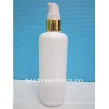 250 ml emballage cosmétique blanc soins de la peau gomme acrylique conception de la bouteille