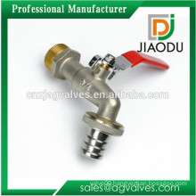 "High Quality Nickle Plated 3/4"" Hose Union Brass Water Bibcock"
