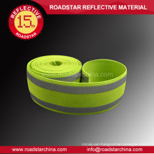 Reflective webbing warning tape for clothing