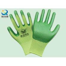 Polyester-Shell-Nitril beschichtete Sicherheits-Arbeitshandschuhe (N6009)