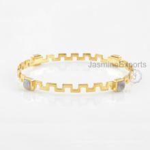 Bracelet à la lune Rainbow Moon, Bracelets en pierres précieuses en argent sterling 925 pour femmes