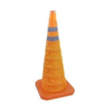 70cm telescopic collapsible traffic cones