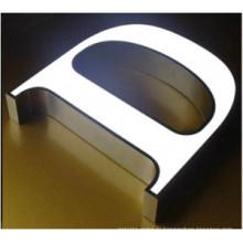 Signe de lettre 3D lumineux en acrylique solide lettre avant