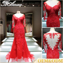 2016 wholesale new fashion most popular plus size custom women's lace applique evening wedding dress for bridal mother