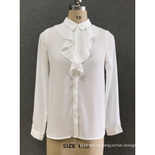 женская белая шифоновая рубашка