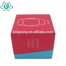 Caja de regalo de empaquetado de papel de dos compartimientos modificada para requisitos particulares