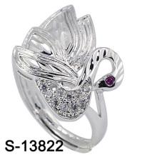 Neue Ankunft Modeschmuck Peafowl Form Silber Ring (S-13822)