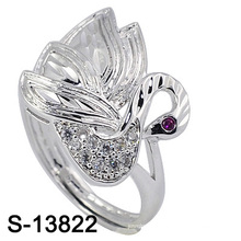 New Arrival Fashion Jewelry Peafowl Shape Silver Ring (S-13822)