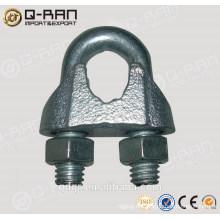 Clip de cuerda de alambre de hierro maleable abrazadera Din741 del aparejo de Qingdao