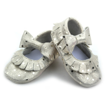 Hot Selling Girls Dress Shoes Baby Gold Moccasins