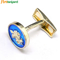 Metal Cufflink With Soft Enamel