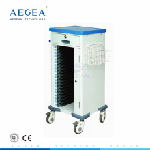 AG-CHT010 ABS single row patient room files storage mobile medical record folder trolley
