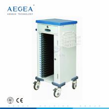 АГ-CHT010 мобильный АБС стационар пластиковые медицинские записи пациентов. тележки