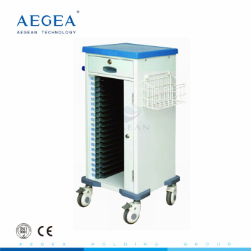 AG-CHT010 mobile ABS patient hospital plastic medical patient record carts