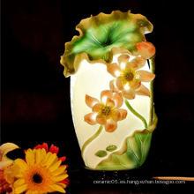 Sombreros de lámpara de loto de cerámica estilo chino