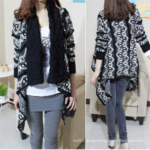 Autumn and Winter Cardigan Fashion Women Sweater Women Big Casual Knitting Sweater