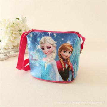 sacs d'école en gros / détail PU bande dessinée mignonne petite fille sacs à main pour enfants totes avec des personnages de films au détail