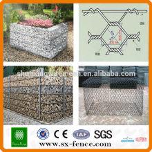 Malha de arame de gabião / caixa de gabião